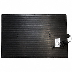Electric Heated Rubber Mat, 120V, 0.09kW