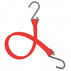 Bungee Strap, S-Hook, 36 In.L, Red