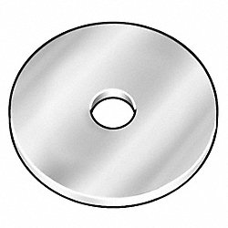 Fender Washer, Zinc, Fits 3/8 In, Pk 100