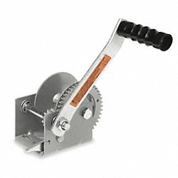 Hand Winch w/Strap, Spur, No Brake, 900 lb.