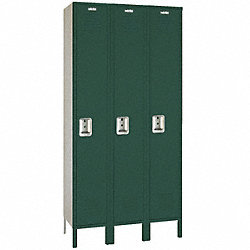 Assembled Locker, 1 Tier, 54x18x78, Green