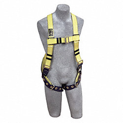 Full Body Harness, Universal, 420 lb., Ylw