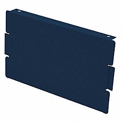 Locker End Base, D 12 In, H 6 In, Blue, PK2
