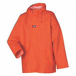 Rain Jacket with Hood, Orange, XL