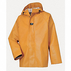 Rain Jacket with Hood, Ochre, 4XL