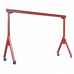 Portable Gantry Crane, 4000Lb, Max Ht10Ft