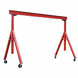 Portable Gantry Crane, 4000Lb, Max Ht12Ft