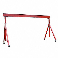 Portable Gantry Crane, 8000Lb, Max Ht14Ft