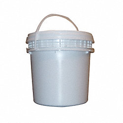 Pail, HDPE, Wht, 1 Gal, Screw Top, UN