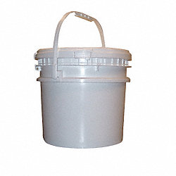 Pail, HDPE, Wht, 3.5 Gal, Screw Top, UN