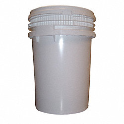 Pail, HDPE, Wht, 12 Gal, Screw Top, UN