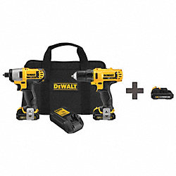 Cordless Combination Kit, 12.0V, 2.8A/hr.