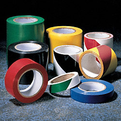 Hazard Marking Tape, Roll, 2In W, 54 ft. L