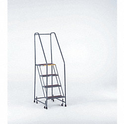Rolling Ladder, Steel, 50 In.H