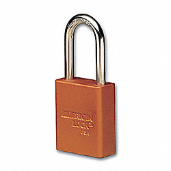 Lockout Padlock, KA, Orange, 1/4In., PK12