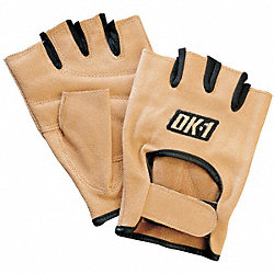 Mechanics Gloves, L, Tan, Padded, PR