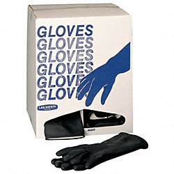 Disposable Gloves, Neoprene, L, Black, PR100