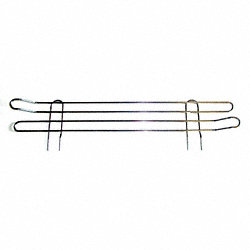 Shelf Side Rail, 63X72X24 , Chrome Plated