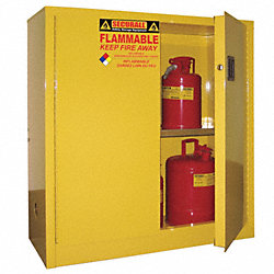 Flammable Safety Cabinet, 30 Gal., White