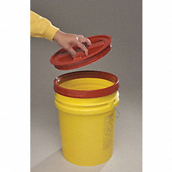 PailLid, Leak-Proof, Red, HDPE