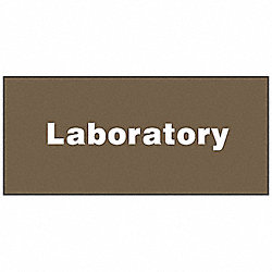 Facility Sign, 4 x 9In, WHT/BR, PLSTC, LAB