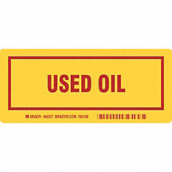 Container Label, 7 In. W, 3 In. H, PK 25