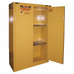 Flammable Safety Cabinet, 45 Gal., White