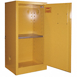 Flammable Safety Cabinet, 16 Gal., Red