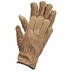 Leather Drivers Gloves, XL, Brown, PR