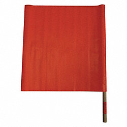 Handheld Warning Flag, Hi-Vis Orange