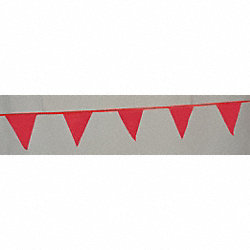 Pennants, Polyethylene, Red, 60 ft.