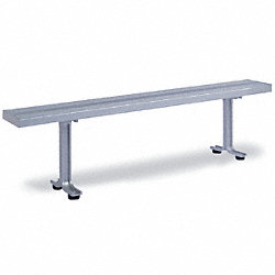 Locker Room Bench, 8 Ft, 2 Pedestals