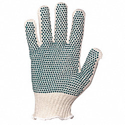 Heavyweight Knit Grip Gloves, Cotton, PK12