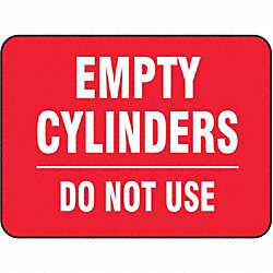 Gas Cylinder Sign Label, 10 In. W, 7 In. H