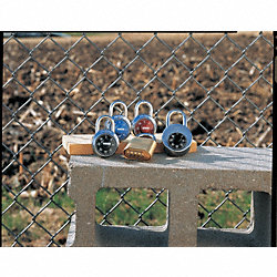 Combination Padlock, Red/Chrome