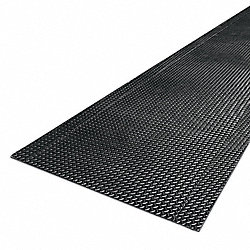 Anti-Fatigue Mat, Vinyl/PVC, Blk, 3 x 75 ft