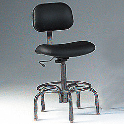 Pneumatic Lab Stool, 250 lb., Black