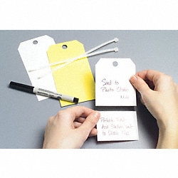 Blank Tag, 5-3/4 x 3 In, Wht, PK25