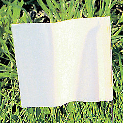 Marking Flag, White, Blank, PVC, PK100