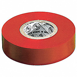 Electrical Tape, 3/4 In x 22 yd, 7 mil, Red