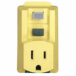 GFCI Single Outlet Adapter, 120V, 15A