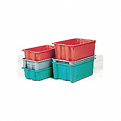 Stack and Nest Container, Green, 10x5x18