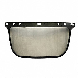 Replacement Visor, Black, Steel Mesh