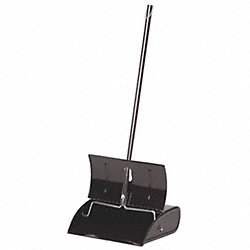 Long Handled Dust Pan, Metal, 12-1/2 In. W