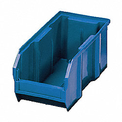 Stack/Hang Bin, 14-3/4L x 5-1/2W, Blue