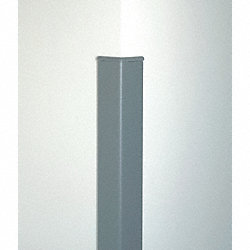 Corner Guard, 8 ft, Aluminum, Blue