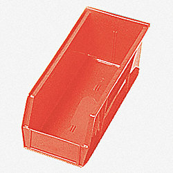 Shelf Bin, 17-7/8L x 6-5/8W, Red