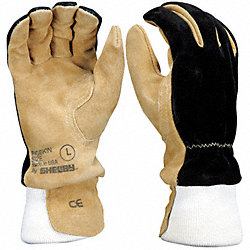 Firefighters Gloves, L, Pigskin