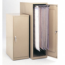 Vertical Storage Cabinet, 42Hx16Wx27D In