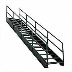 Stair Unit, Carbon Steel, 16 Steps